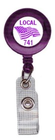 Union Printed Badge Reels, Made in USA