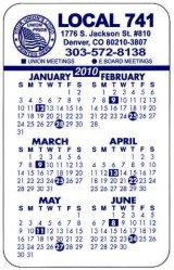 Union Card Calendars, Union Made & Union 