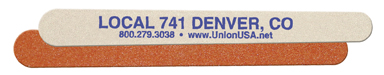 Union Printed Emery Boards, Made in USA