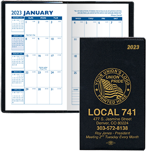Union Monthly Pocket Planners, Union Made & Union Printed